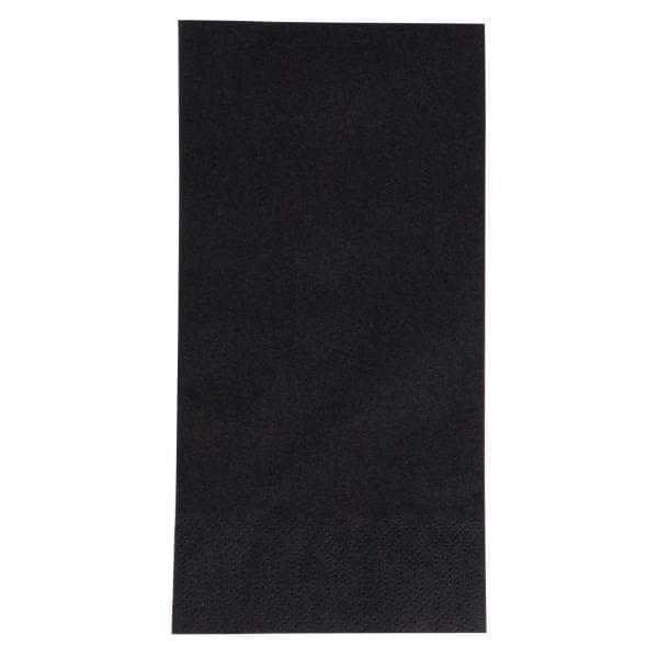 Duni Dinner Napkin - 40x40cm 3ply Black 1/8 fold (Pack 1000)-0