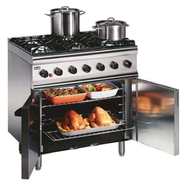 Lincat Silverlink 600 Gas Oven LPG 6 Burner Castors at Rear (Direct)-0