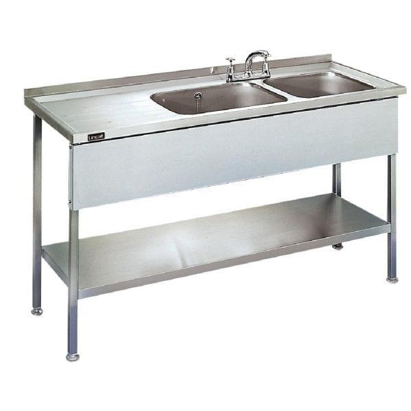 Lincat Double Sink Unit Left Hand Drainer (Direct)-0