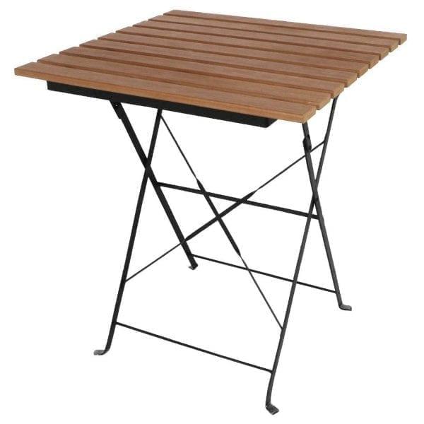 Bolero Faux Wood Bistro Table - 600mm Square-0