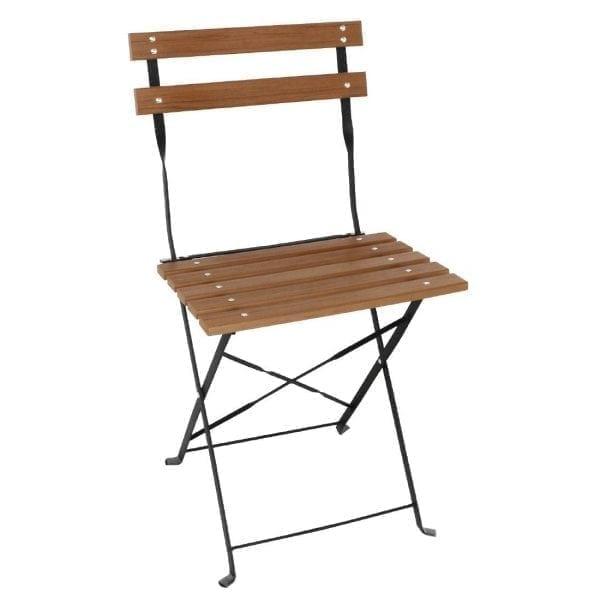 Bolero Faux Wood Bistro Chair (Pack 2)-0