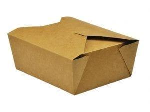 Vegware No.8 Food Carton - 1300ml (15x12x6.5cm) (Box 300)-0