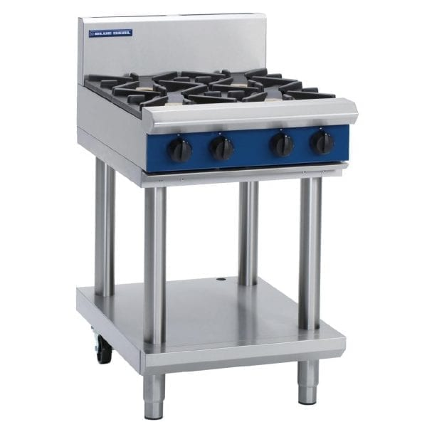 Blue Seal Evolution Cooktop 4 Open Burners on Stand LPG (Direct)-0