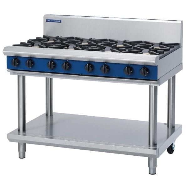Blue Seal Evolution Cooktop 8 Open Burners 1200mm on Stand Natural Gas (Direct)-0