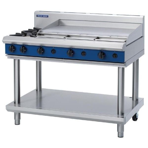 Blue Seal Evolution Cooktop 2 Open/1 Griddle Burner on Stand Nat Gas (Direct)-0