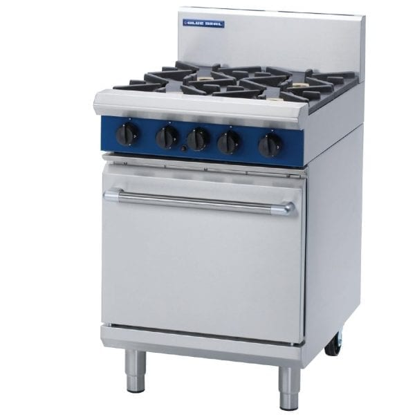 Blue Seal Evolution 2 Burner/Ribbed Griddle Static Oven LPG Gas 600mm (Direct)-0