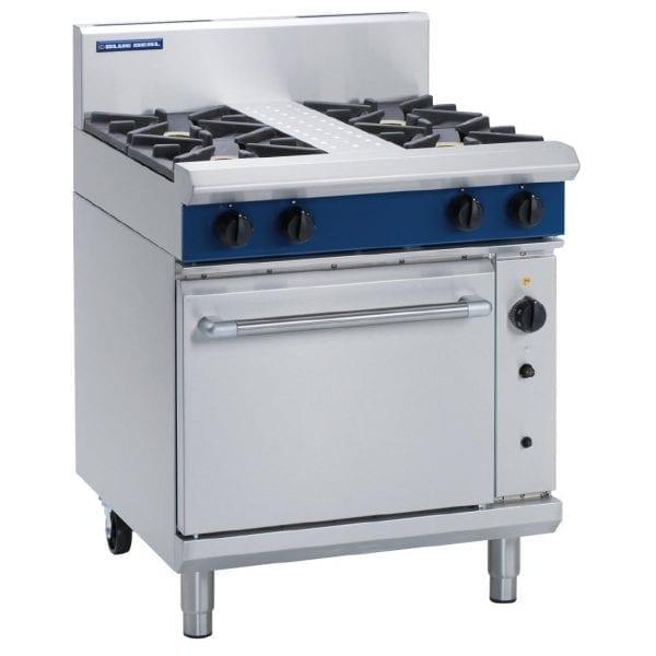 Blue Seal Evolution 4 Burner Convection Oven LPG - 750mm (Direct)-0