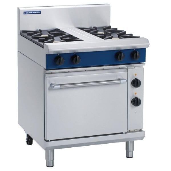 Blue Seal Evolution 4 Burner Natural Gas Range w Elec Static Oven 750mm(Direct)-0
