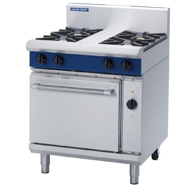 Blue Seal Evolution 4 Burner Natural Gas Range Elec Convection Oven750mm(Direct)-0