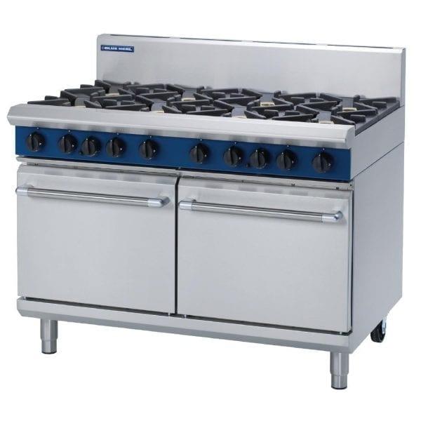 Blue Seal Evolution 8 Burner Double Static Oven LPG - 1200mm (Direct)-0