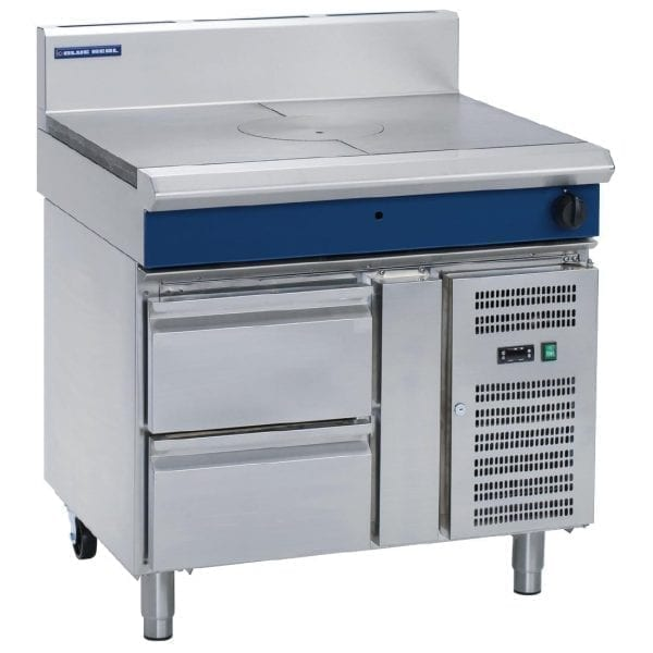 Blue Seal Evolution Target Top with Refrigerated Base Nat Gas - 900mm (Direct)-0