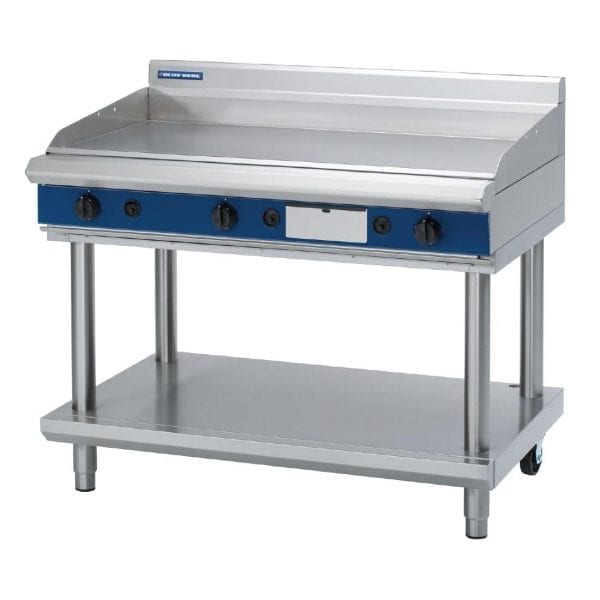 Blue Seal Evolution Chrome Griddle with Leg Stand Nat Gas - 1200mm (Direct)-0