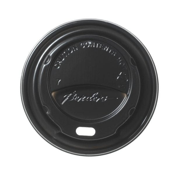 Hot Cup Domed Sip Lid Black - 8oz (Box 1000)-0