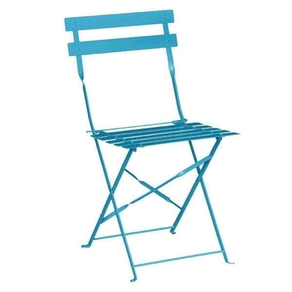 Bolero Seaside Blue Pavement Style Steel Chairs (Pack 2)-0