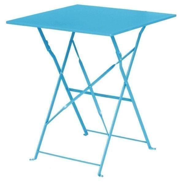 Bolero Seaside Blue Pavement Style Steel Table (600mm Square)-0