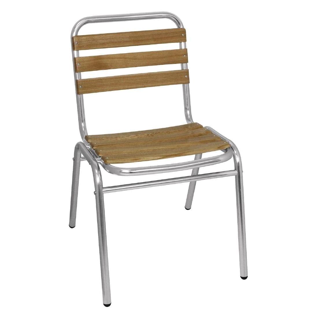 Bolero Aluminium & Ash Bistro Sidechair (Pack 4)-0