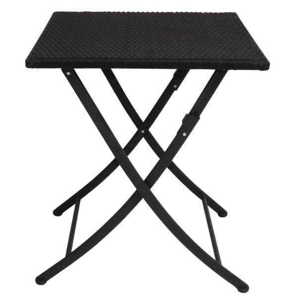 Bolero PE Wicker Folding 600mm Square Table-0