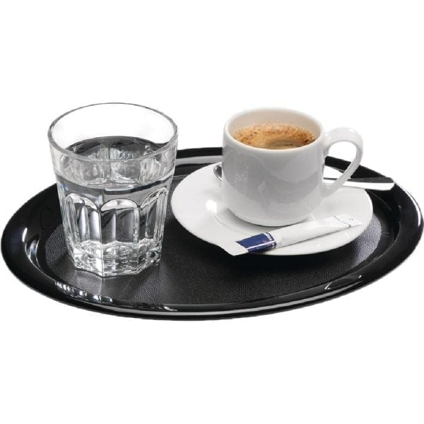 APS Melamine Serving Tray Black - 260x200x15mm (B2B)-0