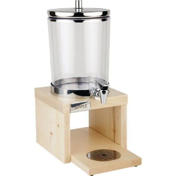 APS Juice Dispenser Wood Base Maple - 6Ltr (B2B)-0