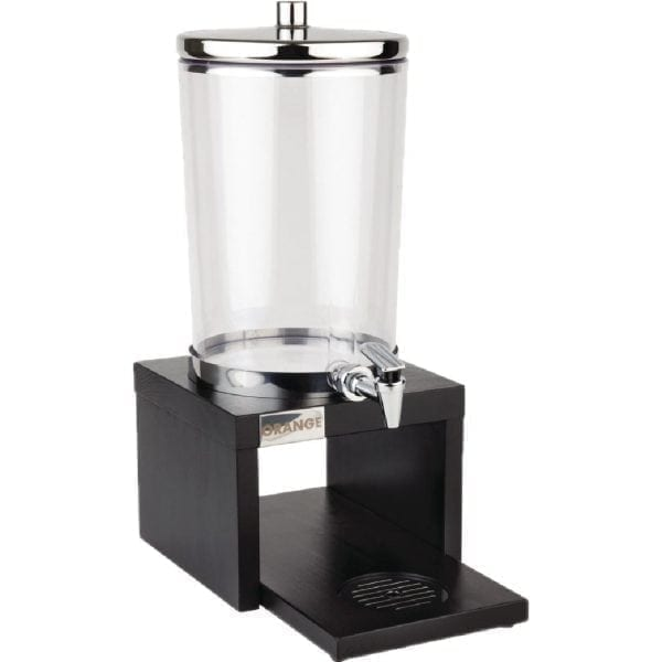 APS Juice Dispenser Wood Base Black - 6Ltr (B2B)-0
