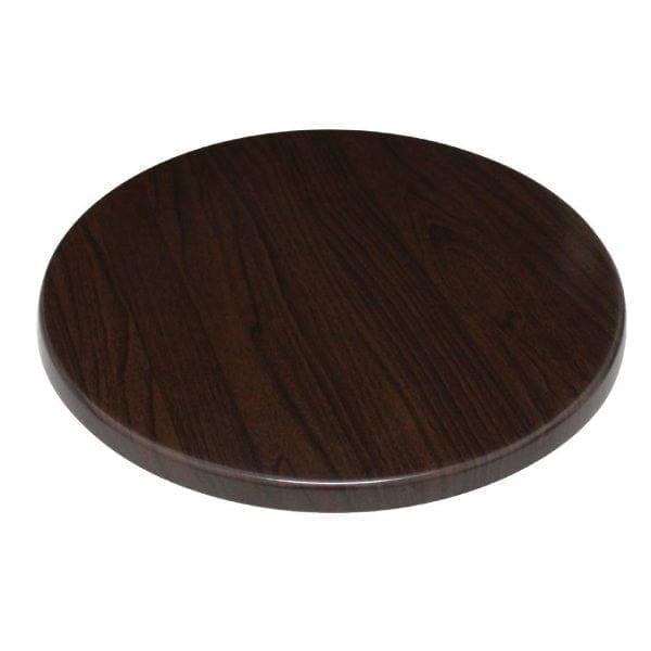 Bolero Round 800mm Table Top (Dark Brown)-0
