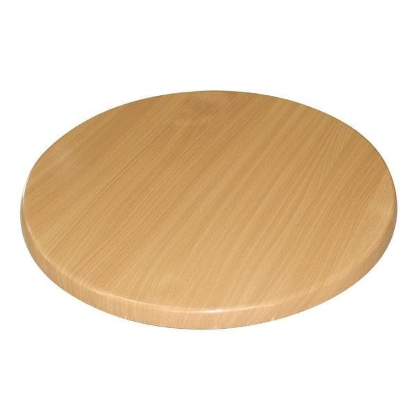 Bolero Round 800mm Table Top (Beech Effect)-0