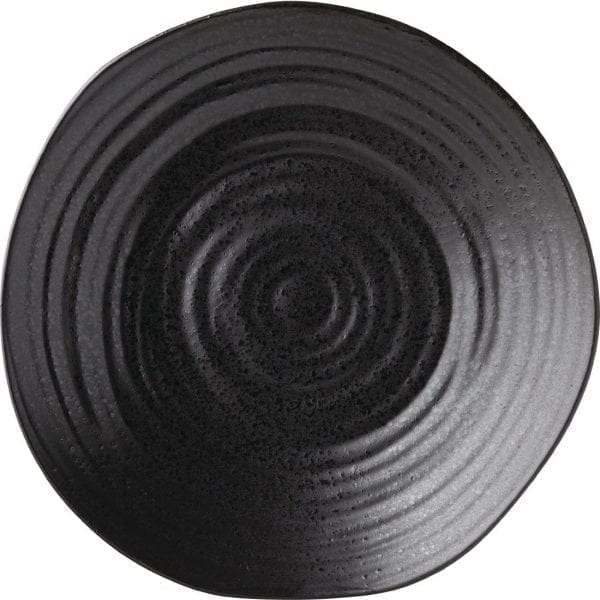 "Tribeca Ebony Plate - 210mm 8 1/4"" (Box 6)-0"