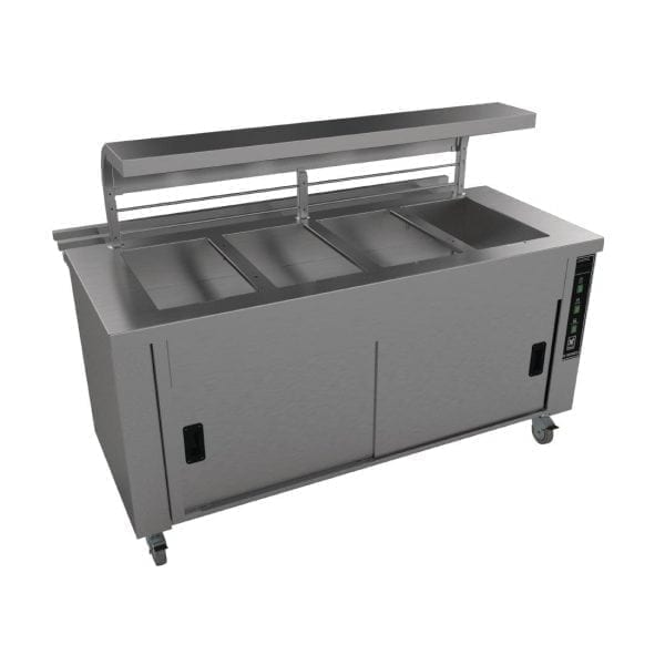 Falcon Chieftain 4 Well Heated Servery Counter (Trayslide) (Direct)-0