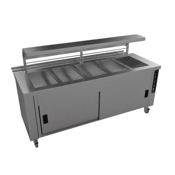 Falcon Chieftain 5 Well Heated Servery Counter (Trayslide) (Direct)-0