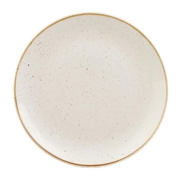 """Churchill Stonecast Barley Coupe Plate White - 288mm 11"""" (Box 12) (Direct)-0"""