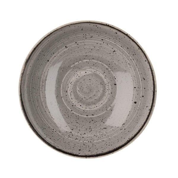 "Churchill Stonecast Evolve Coupe Bowl Peppercorn Grey - 9.75"" (Box 12) (Direct)-0"
