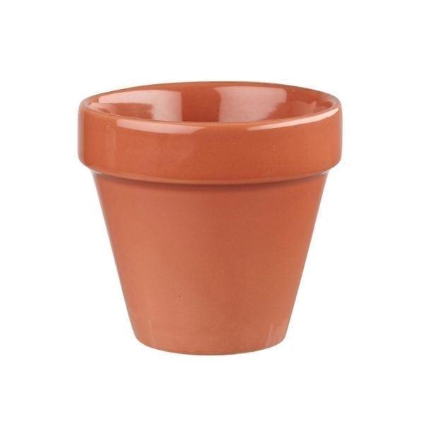 Churchill Bit On The Side Plant Pot Paprika - 17oz 48.3cl (Box 6) (Direct)-0