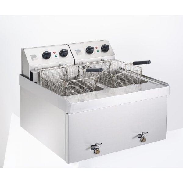 Parry Double Table Top Fryer 2 x 9Ltr 2 x 3kW (Direct)-0