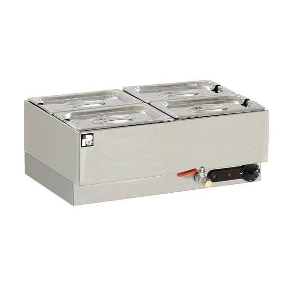 Parry Dry Well Bain Marie 4 x 1/4 GN 400W (Direct)-0