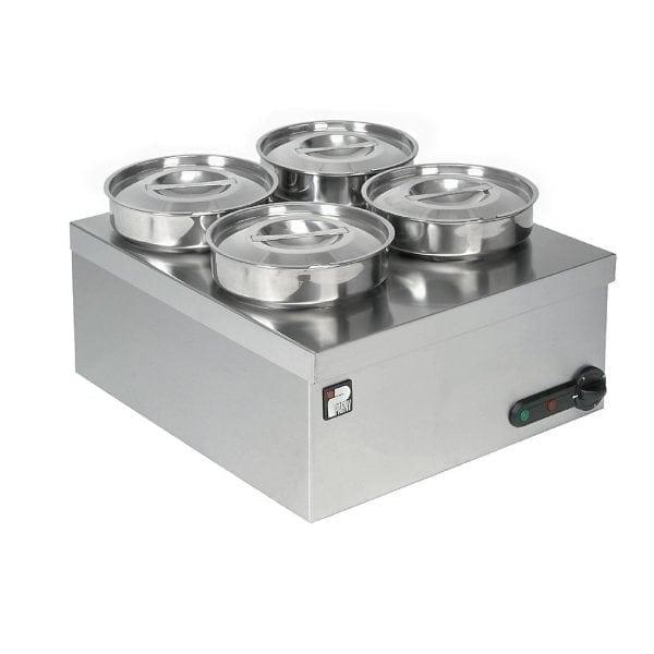 Parry 4 Pot Bain Marie Pots 200mm Dia x175mmDeep 3kW (Direct)-0