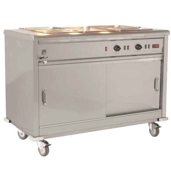 Parry Mobile Servery Bain Marie Top, 350 plates 2x13Amp (Direct)-0
