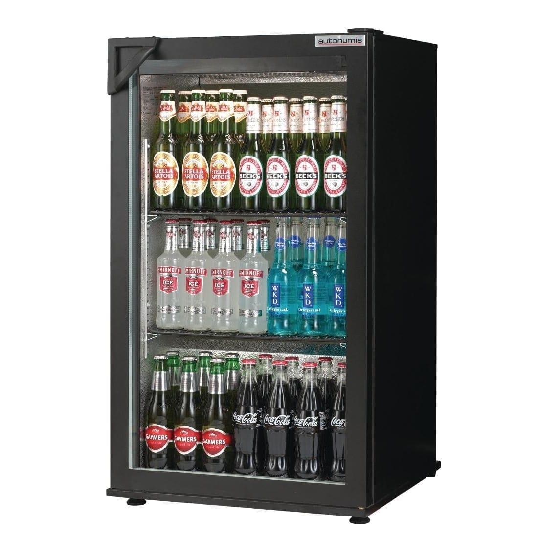 Autonumis Popular 1 Door Back Bar Cooler Black Door/Cabinet (Direct)-0