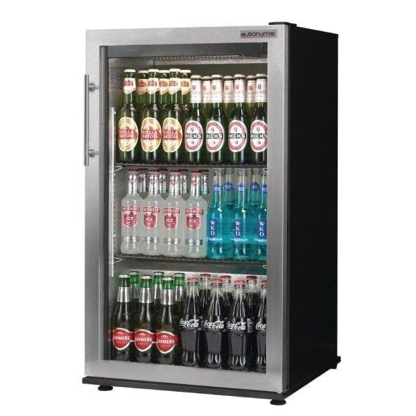 Autonumis Popular 1 Door Back Bar Cooler St/St Door/Black Cabinet (Direct)-0