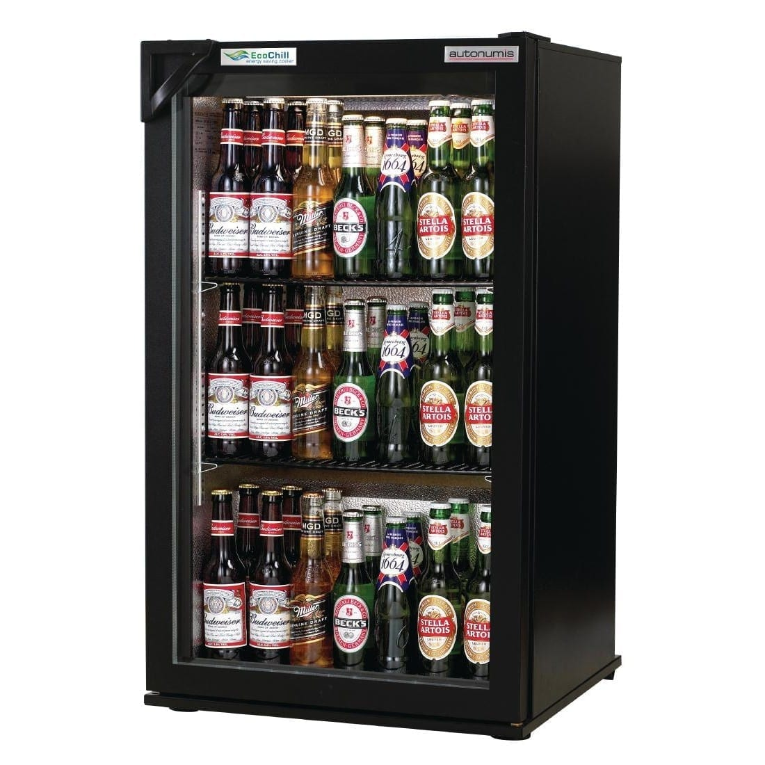 Autonumis EcoChill 1 Door Back Bar Cooler Black Door/Cabinet (Direct)-0