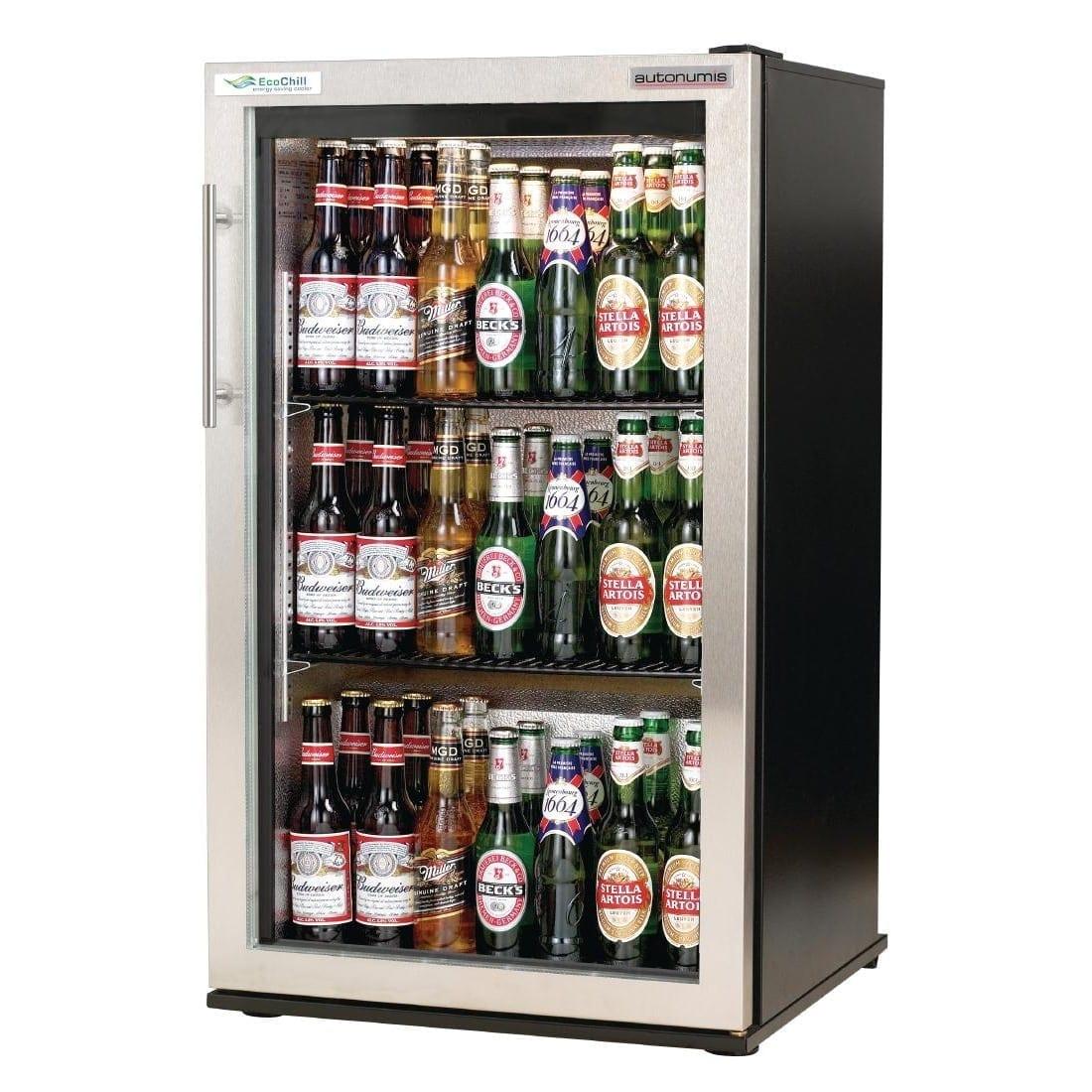 Autonumis EcoChill 1 Door Back Bar Cooler St/St Door/Black Cabinet (Direct)-0