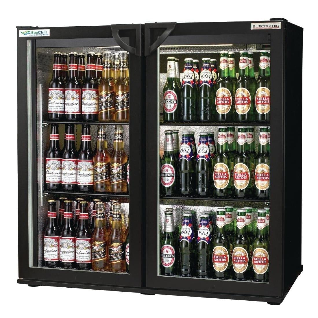Autonumis EcoChill 2 Hinged Door 3ft Back Bar Cooler Black Door/Cabinet (Direct)-0