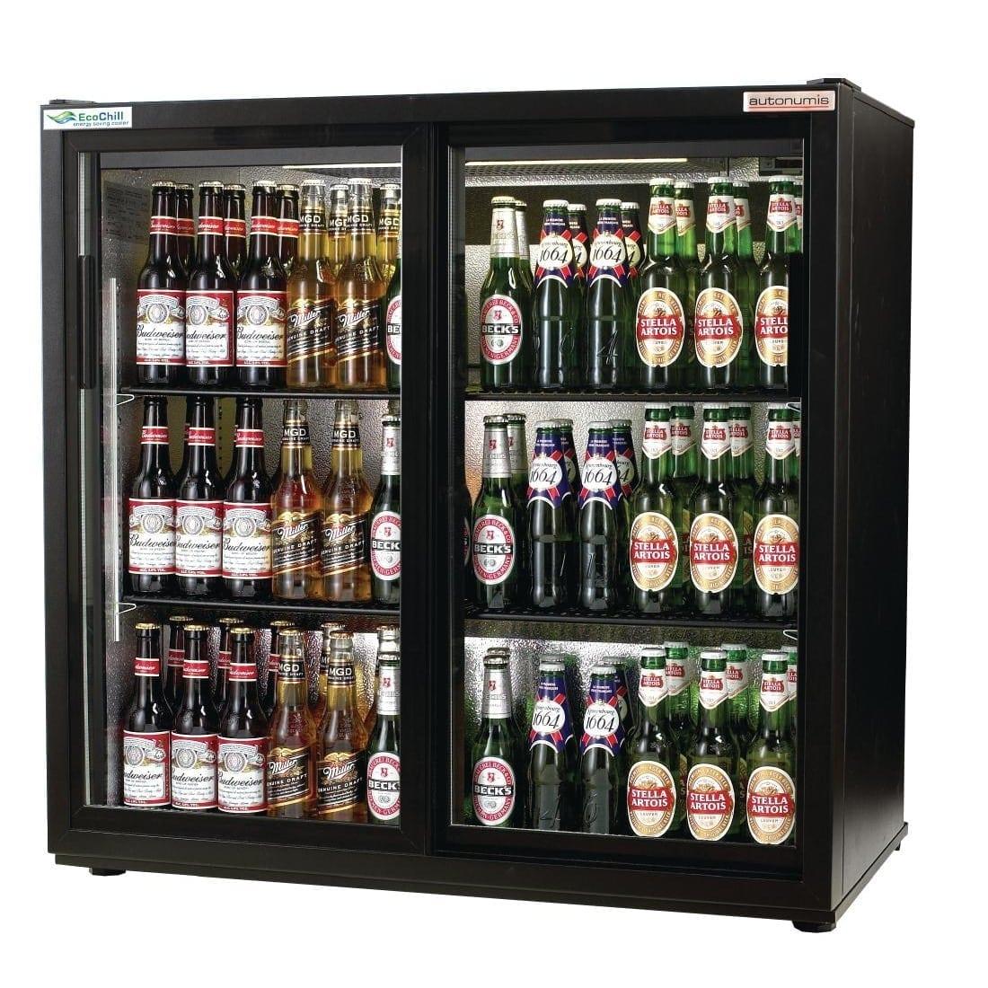 Autonumis EcoChill 2 Sliding Door 3ft Back Bar Cooler Black Door/Cabinet(Direct)-0