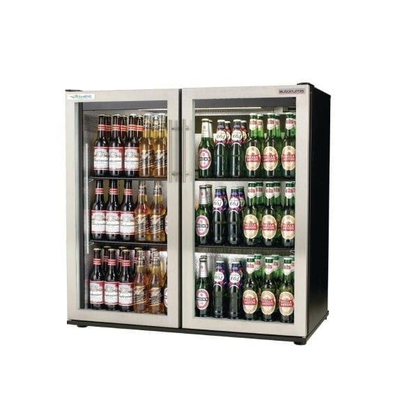 Autonumis EcoChill 2 Hinged Door 3ft Back Bar Cooler St/St Door/Blck Cab(Direct)-0