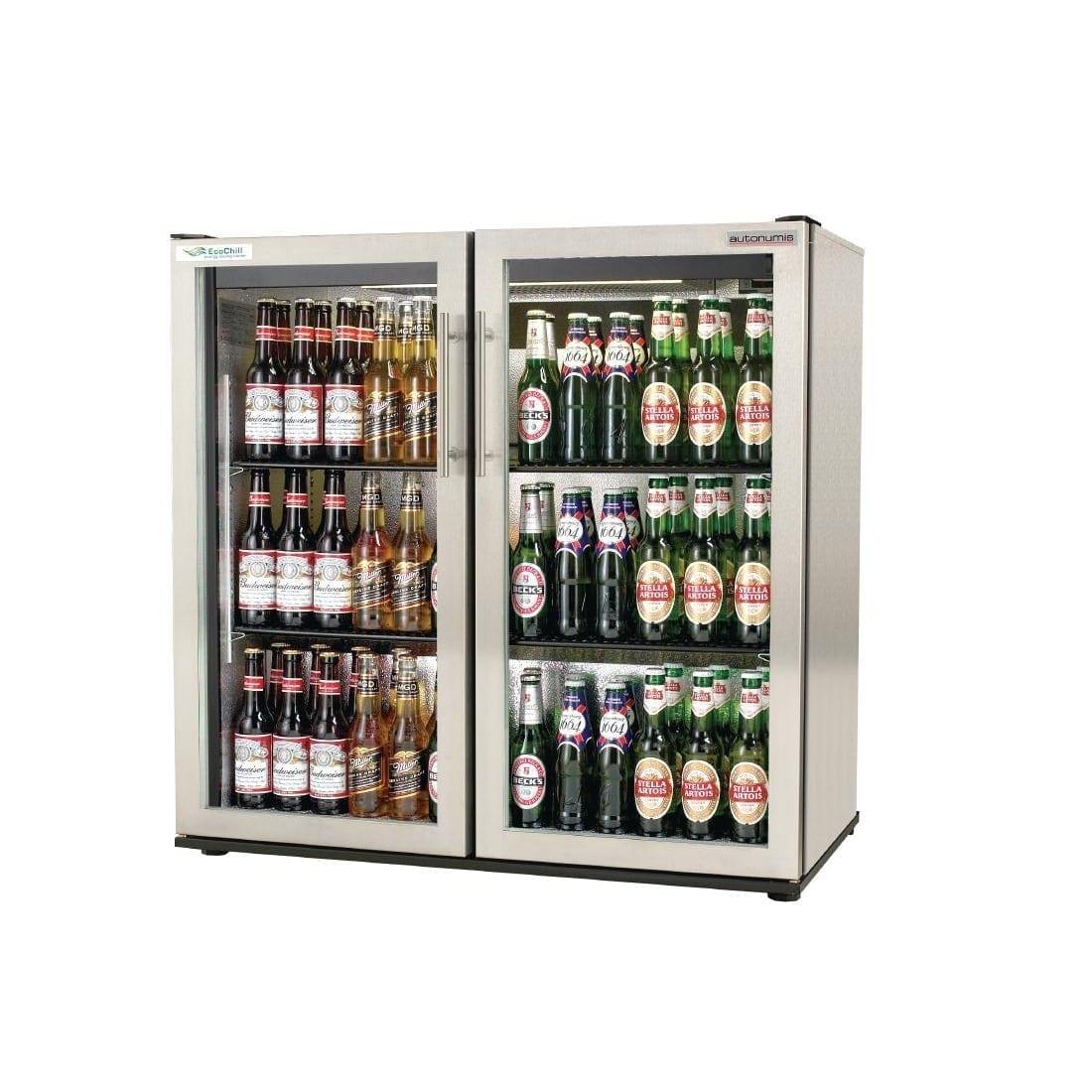Autonumis EcoChill 2 Hinged Door 3ft Back Bar Cooler St/St Door/Cabinet (Direct)-0