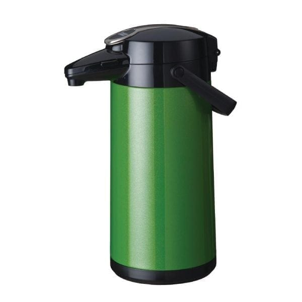 Bravilor Furento 2.2Ltr Airpot with Pump Action Metallic Green (St/St) (Direct)-0