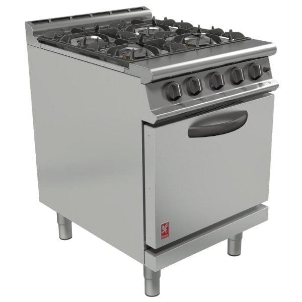 Falcon Dominator Plus 4 Burner Oven Range with Drop Down Door NAT (Direct)-0