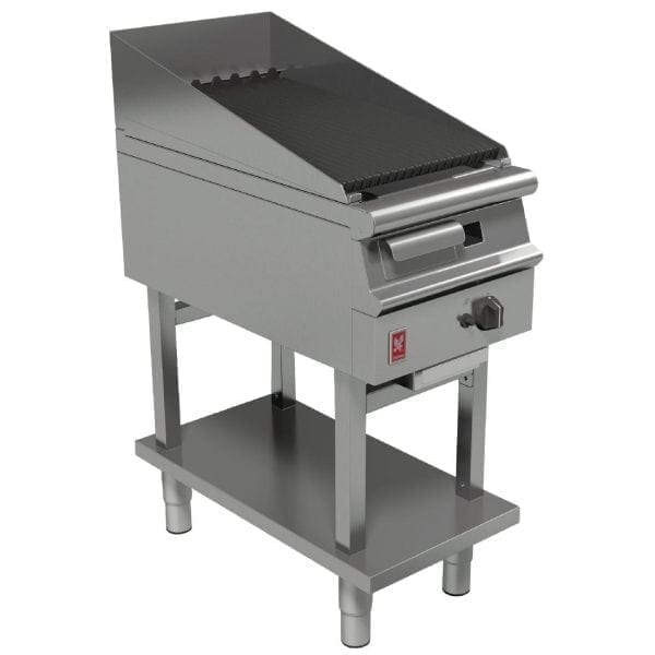Falcon Dominator Plus 400mm Wide Chargrill on Fixed Stand NAT (Direct)-0