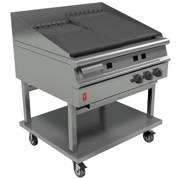 Falcon Dominator Plus 900mm Wide Chargrill on Mobile Stand NAT (Direct)-0
