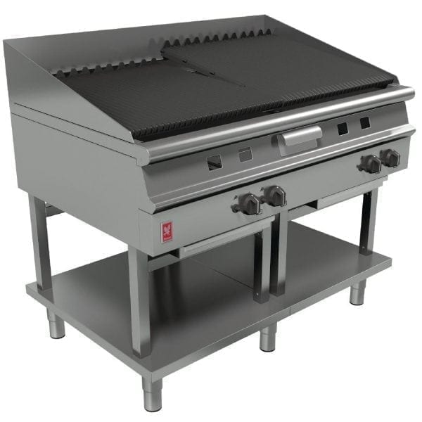 Falcon Dominator Plus 1200mm Wide Chargrill on Fixed Stand NAT (Direct)-0