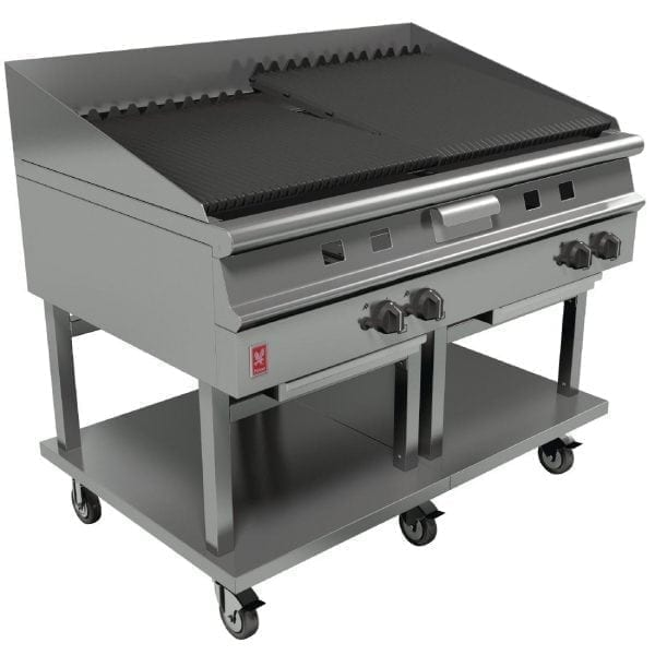 Falcon Dominator Plus 1200mm Wide Chargrill on Mobile Stand NAT (Direct)-0